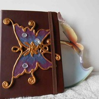 Golden Jewelled Butterfly Fairy Mini Sketchbook Journal