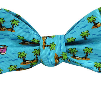 Cocktail and Hammock Bow Tie in Turquoise by Southern Proper