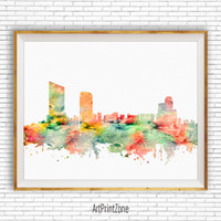 Grand Rapids Michigan, Grand Rapids Art Print, Grand Rapids Skyline, Office Decor, Office Art, Travel Poster, City Art Print, ArtPrintZone