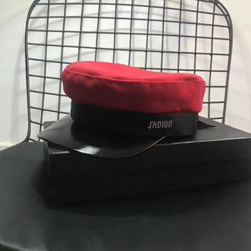 dior all match fashion letter peaked cap flat top hat sun hat