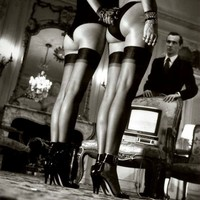 """Legs & Stockings"" Print by Helmut Newton"