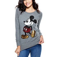 Mickey Sequin Sweatshirt - Grey Heather