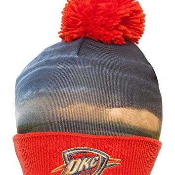 Mitchell & Ness NBA Sublimation Beanie w/ Pom - Oklahoma City Thunder
