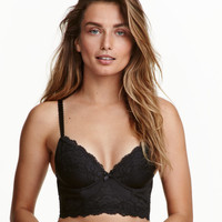 Microfiber and Lace Bustier - from H&M