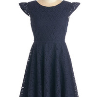 ModCloth Mid-length Cap Sleeves A-line Alluring You Away Dress