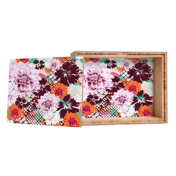 Aimee St Hill Croc And Flowers Orange Jewelry Box