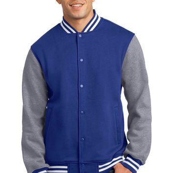 Sport-Tek Fleece  Letterman Jacket. ST270