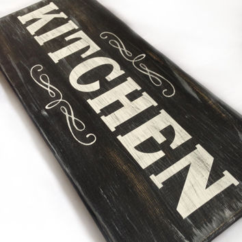 Decorative Home Sign Kitchen Chalkboard Inspired