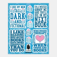 Book Lovers Stickers
