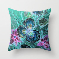 Crayon Love: Posie Pansy has the Inverted Blues-but LOVES Crayon Art! Throw Pillow by RokinRonda | Society6