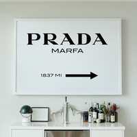Fashion Decor - Printable Poster -  Prada Marfa - Instant Download - Modern Decor - Wall Art Decor - Poster Print - Wall Art - Prada