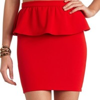 PEPLUM MINI SKIRT