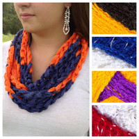 Choose a Sashay Team Spirit Infinity Chain Scarf, Choose from 11 Colors
