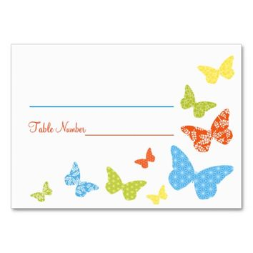 Butterfly Kisses Bridal Shower or Wedding Seating Cards