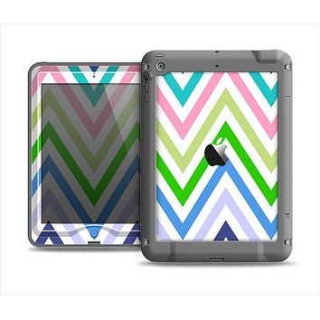The Fun Colored Vector Sharp Chevron Pattern Apple iPad Air LifeProof Nuud Case Skin Set
