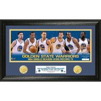Golden State Warriors 73 Win Record Team Force Pano Photo Mint