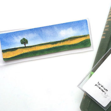 Field of Gold Bookmark (original watercolor painting)
