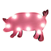 Pig Symbol Marquee Sign Light