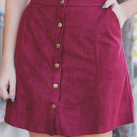 Autumn Solstice Skirt - Wine