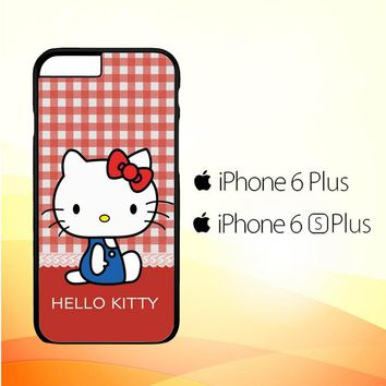 hello kitty kawaii pink X4821 iPhone 6 Plus|6S Plus Case