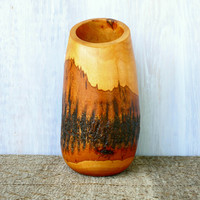 Mango Wood Bark Vase