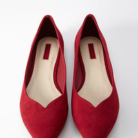Faux Suede Pointed Flat