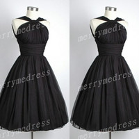 Black Ruffled Strapless Spaghetti Straps Backless Gown Long Celebrity Dress,Tea Length Tulle Evening Party Prom Dress New Homecoming Dress