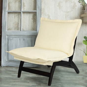 Casual Folding Lounger Chair Espresso