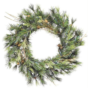 "Artificial Christmas Wreath - 16 ""  - Mixed Country Collection"