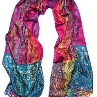 Prism Pashmina with Blue Beading