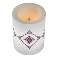 Fantasy Victorian Purple Diamond Design Flameless Candle