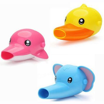 Cute Faucet Extender For Helping Children Toddler Kid Hand Washing in Bathroom Sink Bathing Accessories