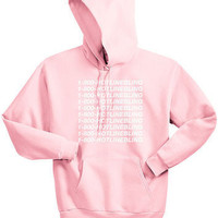 Unisex 1-800 Hotline Bling Drake light pink Sweatshirt Hoodies women autumn Hooded pink colours