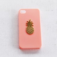 Baby Powder Pastel Pink Apple iPhone 4s 4 Cover Girly Cute Pineapple Gold Fruity Kawaii Sweet Protector