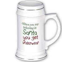 Funny quote beer stein milk mugs Holiday joke gift from Zazzle.com