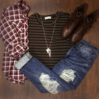 Aven Plaid Top