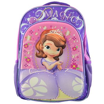 BackPacks Disney Sofia the First 3D  Padded Adjustable Straps Purple