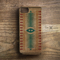 Tribal iPhone 4 case - iPhone 4s case, iPhone 5 case, native, arrow, african, third eye - Indian pattern on old paper(c66)