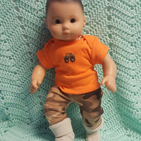 "Baby Doll Clothes to fit 15 inch baby doll BOY ""Camo Ride"" 15 inch playset top socks pants jeep camouflage"