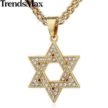 Trendsmax Gold-color Bling Shining Necklace