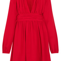 Giambattista Valli - Ruched silk-georgette mini dress