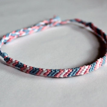 Transgender Pride Friendship Bracelet Thin