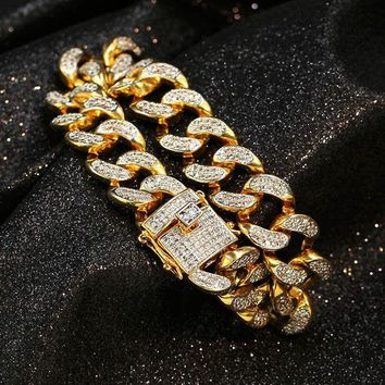 (15mm) Cuban Link Diamond Bracelet