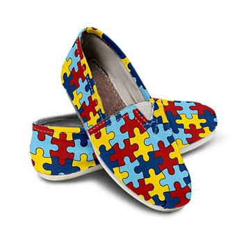 Ladies Casual Shoes Autism Awareness EXP