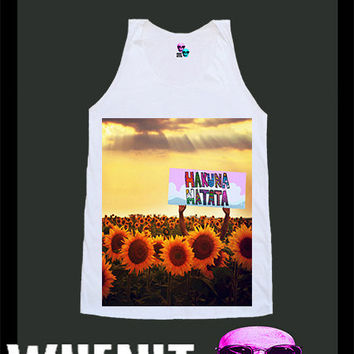 worldwide shipping just 7 days HAKUNA MATATA shirt singlet tank top 10318