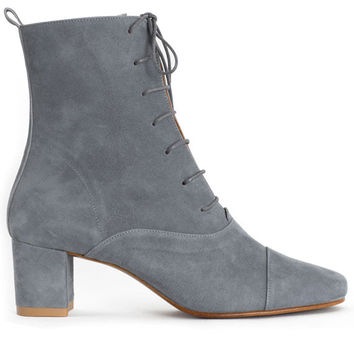 By Far Boots - Jean Blue Suede Lada Boot | BONA DRAG