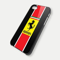 ferrari logo 2 - iPhone 4 Case, iPhone 4s Case and iPhone 5 case Hard Plastic Case