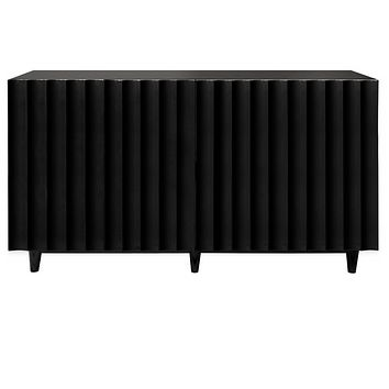 Worlds Away Odette Lacquered Console Cabinet
