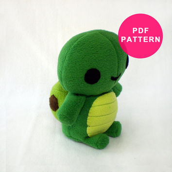 Sewing Pattern - Plushie Turtle PDF Tutorial - DIY Instant Download