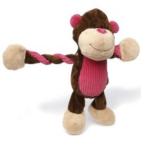 Charming Pet Pulleez Dog Toy Monkey 11""